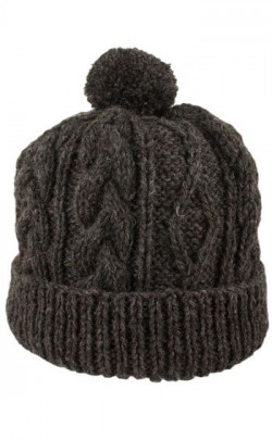 Hand‑Knitted Luxury Aran Ski Cap Glenshee