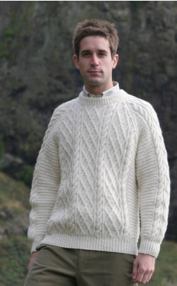 Gents Hand Knitted Luxury Aran Sweater ‑ Cairngorm