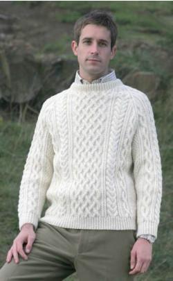 Gents Hand Knitted Luxury Aran Sweater ‑ Torridon