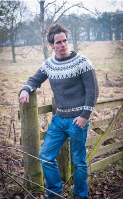 Hand‑Knitted Luxury Aran Icelandic Jersey Thor