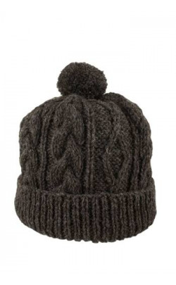 Gents Hand‑Knitted Luxury Aran Ski Cap ‑ Glenshee
