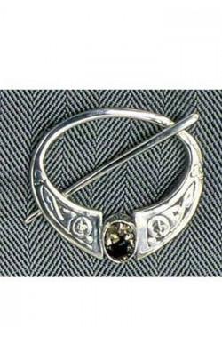 Scottish Quartz Penanular Celtic Brooch, 1 stone