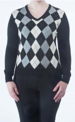 Luxury Cashmere 'Golf Style' V‑Neck Sweater