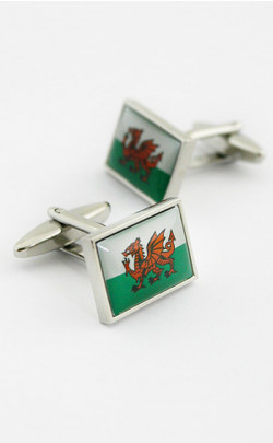Welsh Dragon Cuff Links