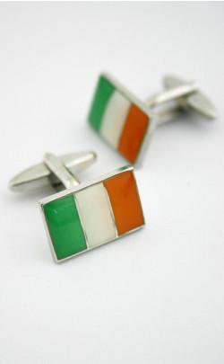Irish Flag Cuff Links