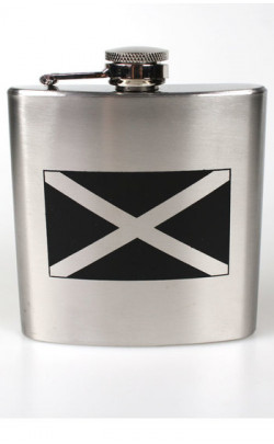 Stainless Steel Saltire Hip Flask
