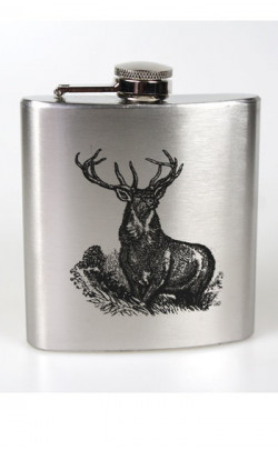 Stainless Steel Stag Hip Flask