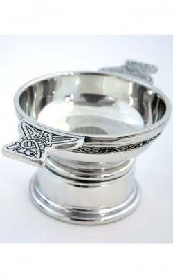 Celtic Banded Pewter Quaich