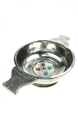 Celtic Gemset Quaich