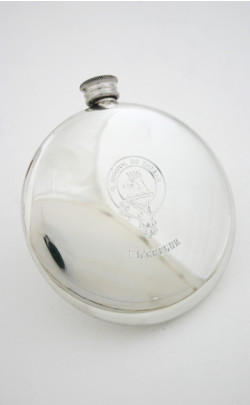 Sporran Flask with Engraved Clan Crest