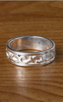 Silver Celtic Wedding Ring ‑ FR111