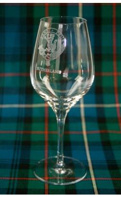 Clan Crest Wine Glasses ‑ Set of 4