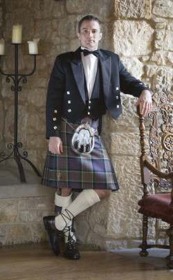 Classic Prince Charlie Kilt Outfit, with Clan Accessories