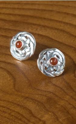 Scottish Agate Celtic Knot Earrings