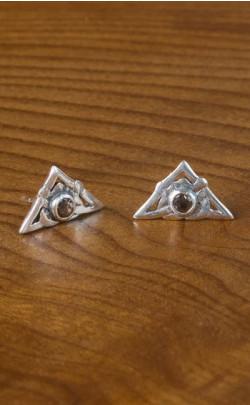 Scottish Smokey Quartz Triangular Earrings