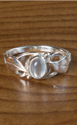 Moonstone Floral Ring