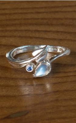 Moonstone Leaf Ring