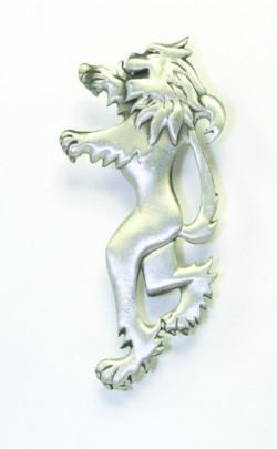 Antique Lion Rampant Kilt Pin