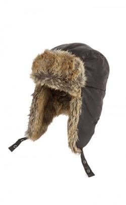 Gents Cotton Faux/Fur Trapper Hat