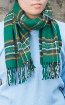 Irish Tartan Luxury Lambswool Scarf