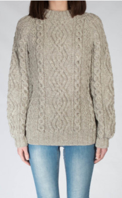 Ladies Luxury Hand‑Knitted Aran Sweater ‑ Ben More