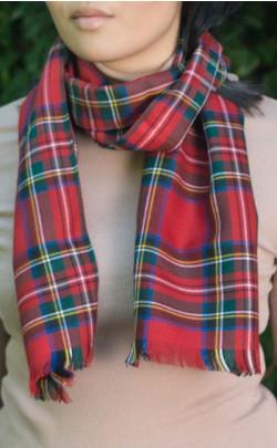 Classic Fine Wool Tartan Scarf