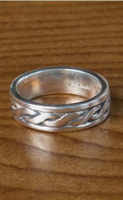 Silver Celtic Patterned Ring ‑ FR97