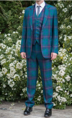 Gents Three‑Piece Tartan Suit