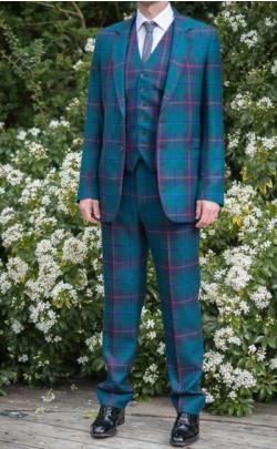 Gents Three‑Piece Tartan Suit