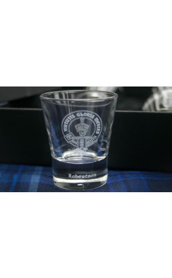 Clan Crest Dram Glass Gift Set with Presentation Box
