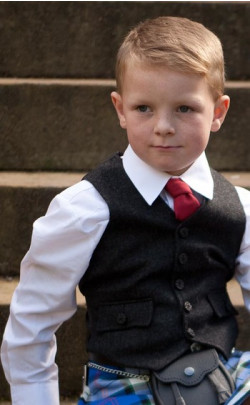 Boy's Tweed Argyll 5 Button Vest