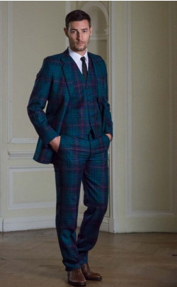 Luxury Tartan Three Piece Suit, Made‑to‑Measure
