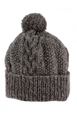Gents Hand‑Knitted Luxury Aran Ski Cap 'Aviemore'