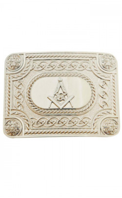 Masonic Belt Buckle with Engraved Surround