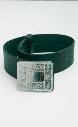 Boy's Leather Belt with Buckle