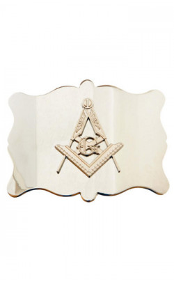 Plain Masonic Belt Buckle