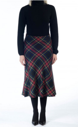 Tartan Skirt, cut on the bias