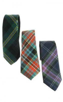 Extra Long Tartan Tie