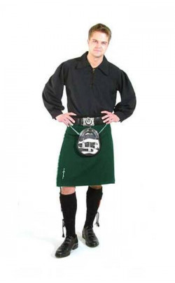 Single Colour Traditional 8 Yard Kilt
