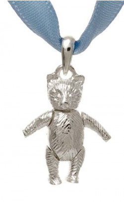 Child's Silver Tiny Ted Tartan Necklace