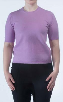 Luxury Scottish Cashmere T‑Shirt, Crew Neck