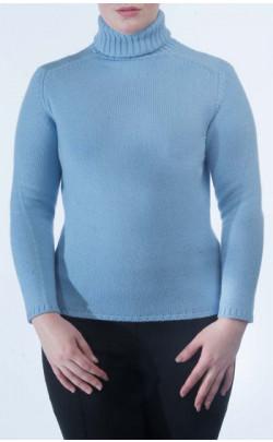 "Ladies Luxury Scottish Cashmere Sweater, ""Zola"" Roll‑Neck"