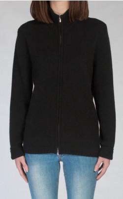 Luxury Scottish Cashmere Zip‑Up Cardigan, Zola