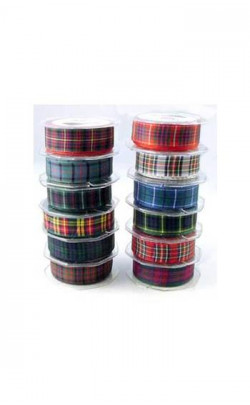 Tartan Ribbon, 25 mm wide