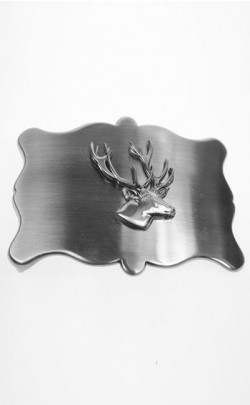 Plain Antique Stag Belt Buckle