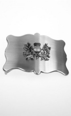 Plain Antique Thistle Belt Buckle