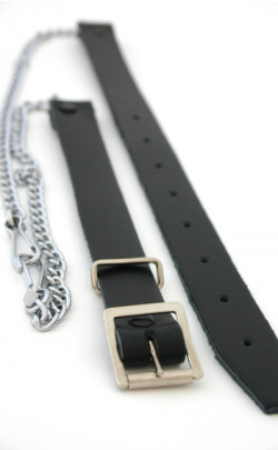 Chrome Leather Chain Strap