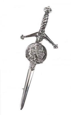 Shamrock Crest Kilt Pin