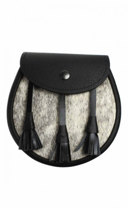 Semi‑Dress Sporran, plain with leather tassels