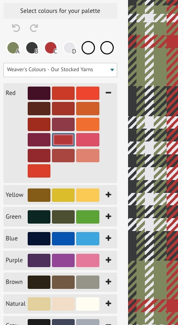 Colour palettes for the tartan designer